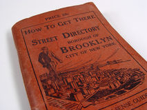 Répertoire des rues de Brooklyn 1920 photos stock