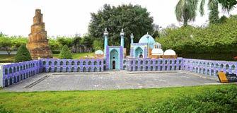 Réplica da mesquita do hakim, isfahan, Irã na janela do mundo, porcelana do shenzhe Fotos de Stock Royalty Free