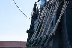 Réplica dos caravels de Christopher Columbus, fotos de stock