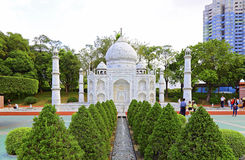 Réplica mahal de Taj na janela do mundo, shenzhen, porcelana foto de stock