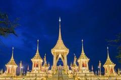 A réplica real do crematório para o rei Bhumibol Adulyadej Pra maio Ru Maat em Sanam Luang para a cerimônia fúnebre real 15 da cr foto de stock royalty free