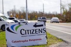 Réponse de catastrophe de citoyens dans les clés de la Floride photo libre de droits