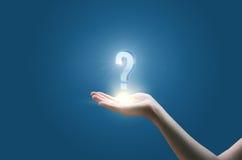 Réponses aux questions Image stock