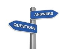 Réponses de questions bien choisies Photo libre de droits