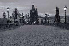 République de Charles Bridge Czech images stock