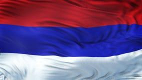 RÉPUBLIQUE de fond de ondulation réaliste de drapeau de SRPSKA Images stock