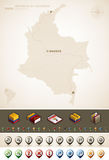 République de la Colombie Photographie stock