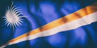 République de Marshall Islands Flag Illustration Stock