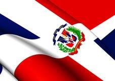 république dominicaine d'indicateur illustration stock
