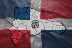 république dominicaine de carte illustration stock