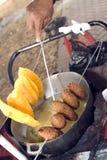 République domnican de nourriture de rue Photo stock