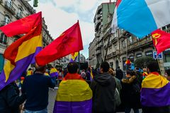 République espagnole mars - Vigo Photos libres de droits
