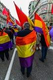 République espagnole mars - Vigo Image libre de droits