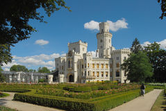 République Tchèque, château Hluboka images libres de droits