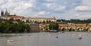 République Tchèque Charles Bridge de Prague image stock