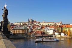république tchèque de Charles Prague de passerelle Images libres de droits