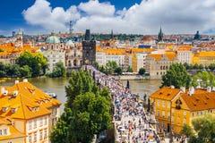 république tchèque de Charles Prague de passerelle Photographie stock libre de droits