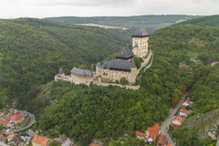 République Tchèque de Karlstejn Bohême de château Photos libres de droits