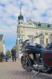 République Tchèque 04 de Podebrady 09 vélo 2017 sur la place Photographie stock libre de droits