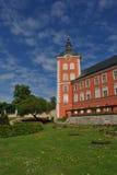 République Tchèque, Kamenice NAD Lipou, château rouge Images stock