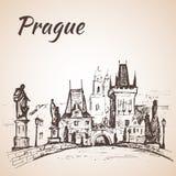 République Tchèque - pont de Charles Photos libres de droits