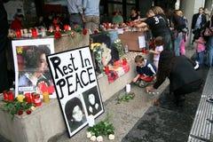 Réquiemes de Michael Jackson en Colonia Fotos de archivo