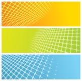 réseau abstrait de drapeaux Image libre de droits