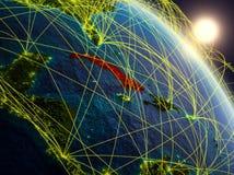 Réseau autour du Cuba de l'espace illustration stock