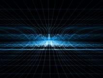 Réseau bleu d'onde de choc Images libres de droits