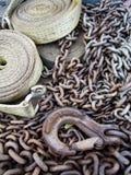 Réseau, crochet et courroie Images libres de droits