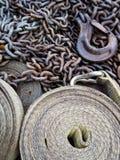 Réseau, crochet et courroie Photo stock