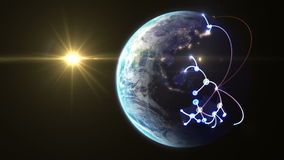 Réseau croissant à travers le monde illustration de vecteur