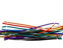 Réseau d'équipement de technologie de câble de couleur Image libre de droits