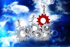 Réseau d'affaires, concept de direction 3d rednering illustration de vecteur
