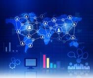 Réseau d'affaires globales Images stock