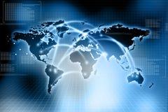 Réseau d'affaires globales Image stock