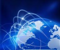 Réseau d'affaires globales Images libres de droits