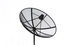 Réseau d'antenne parabolique et de technologie des communications de câble Images stock