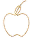 Réseau d'or d'Apple Photographie stock libre de droits