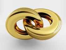 Réseau d'or de pneu Photographie stock libre de droits