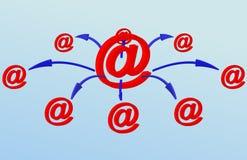 Réseau d'email illustration libre de droits