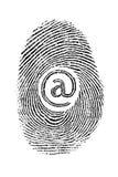 Réseau d'empreinte digitale Image libre de droits