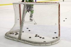 Réseau d'hockey Photographie stock libre de droits