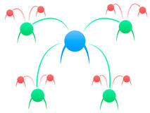 Réseau d'influence d'égaux de personnes illustration de vecteur