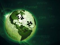 Réseau d'information global illustration stock