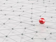 réseau 3D Noeuds reliés illustration stock