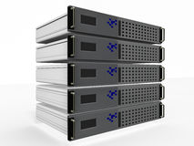 Réseau d'ordinateurs serveur illustration stock