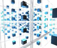 réseau de 2 cubes illustration libre de droits
