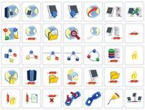 réseau de 35 graphismes Photos libres de droits