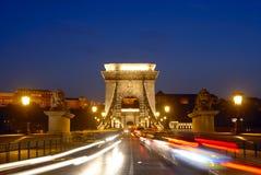 réseau de Budapest de passerelle photographie stock